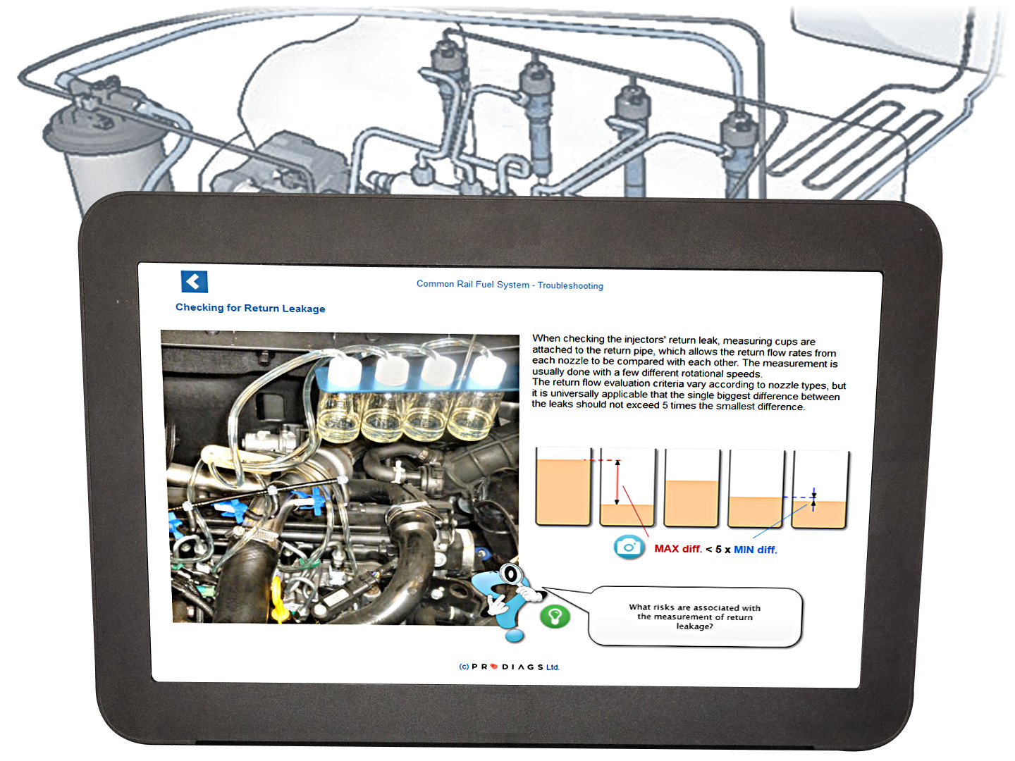 Learn how to diagnose common rail injectors and how a common rail injector tester works. With this online training module you will improve your common rail knowledge, and develop yourself into a master diesel mechanic.