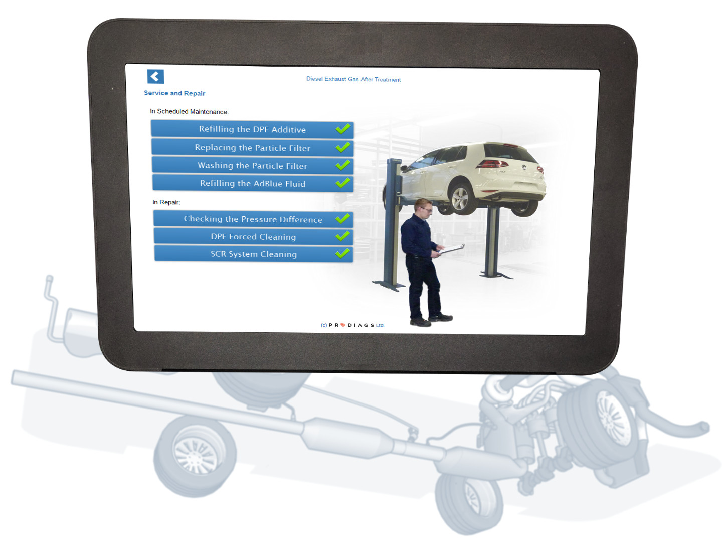 Learn about diesel particulate filters and selective catalytic reduction with this diesel exhaust training module. Learn how to service and repair DPF- and SCR-systems, and how to troubleshoot these systems in case of a problem. Learn about SCR-system maintenance, DPF washing and replacement, and much more with this online training module.