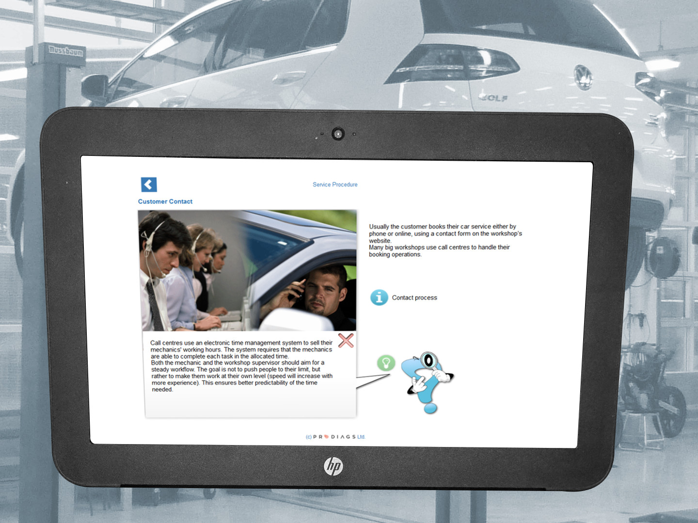 In a workshop, both managers and mechanics should be familiar with customer service. From booking the services to giving advice to the customer on the road. With this training module you will learn the importance of customer service and how to keep your workshop's customers happy.