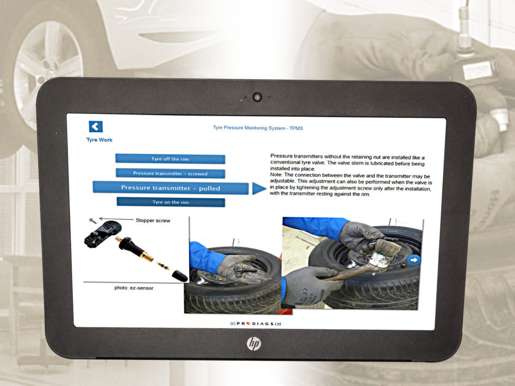 What to take in to account when performing a tyre change on a vehicle equipped with TPMS? What does TPMS tyre work and TPMS tyre change mean for the mechanic? Learn this and much more about the system in this online training module.