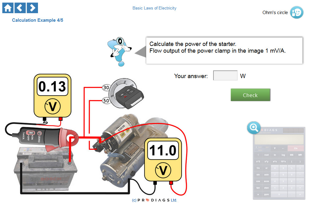 Do you know how to properly measure and calculate the power of a starter motor? With this online training module you will learn how to properly calculate the power based on voltage and current, measured with a current clamp.