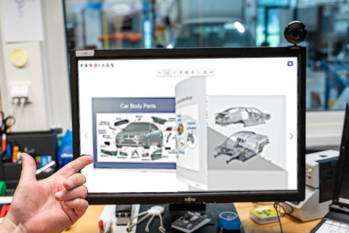 Automotive Trainer showing his own content in the Prodiags Training Environment