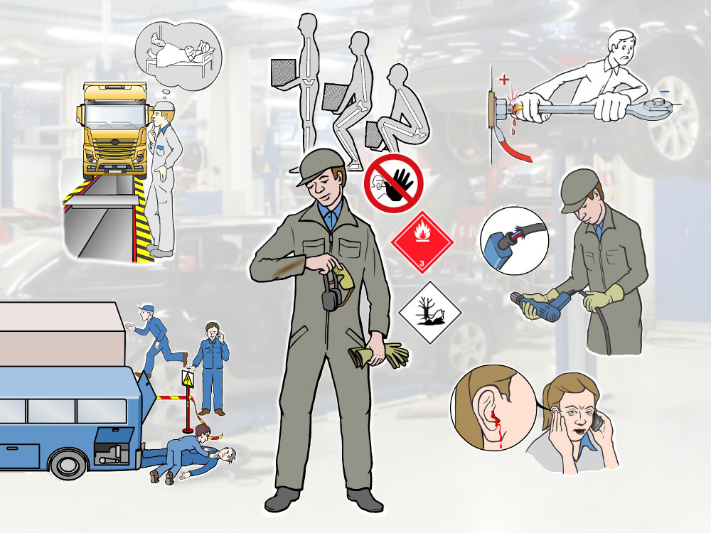 In this work safety training module you will learn about general safety regulations, personal safety at work,how to use power tools in a safe manner and how to give first aid in case of an emergency.