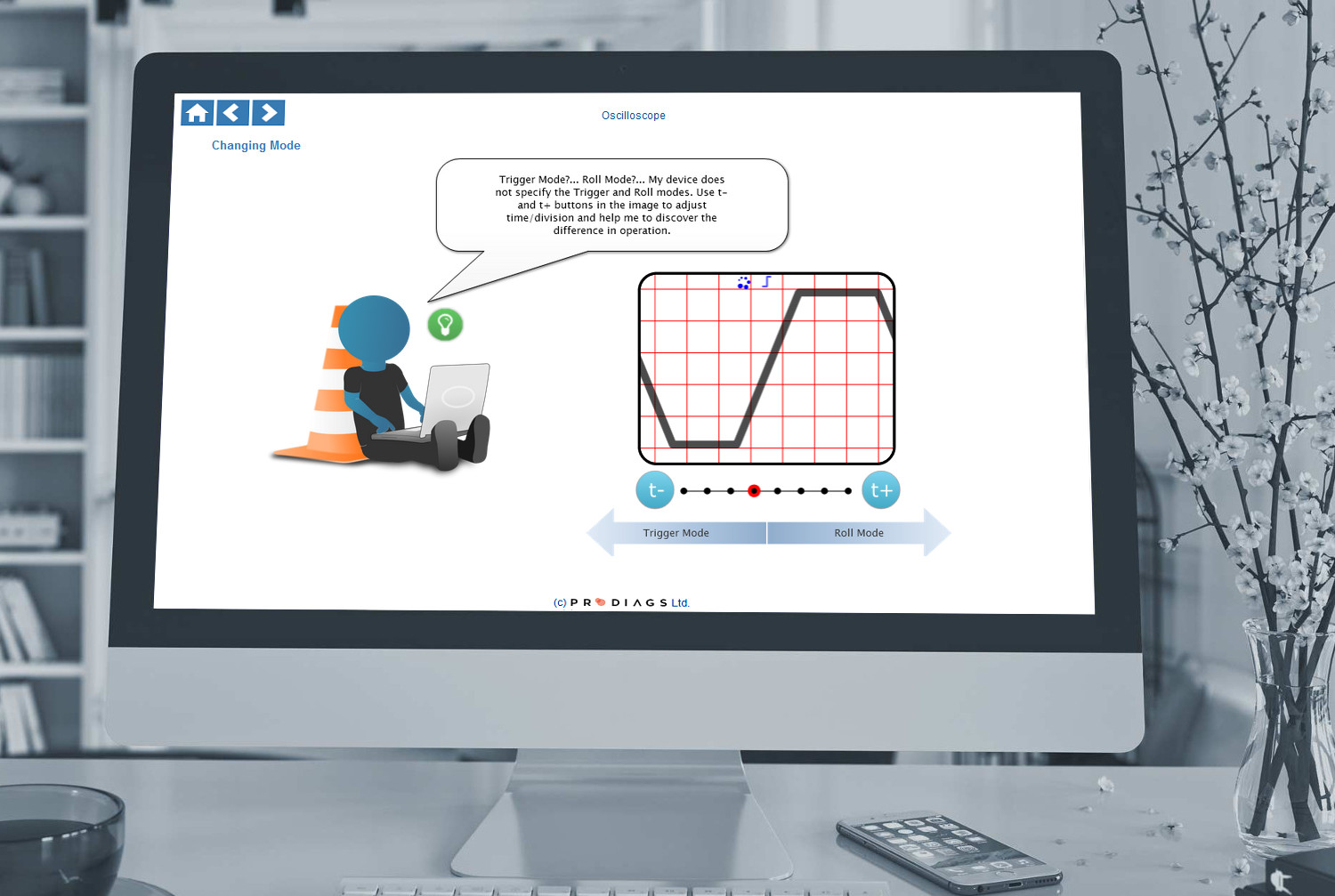 With this online training module, learn how to use the oscilloscope's trigger and roll modes as well as adjusting the time/division of the oscilloscope.