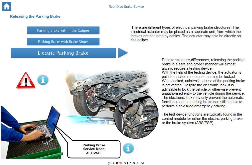 Learn about electric parking brake service and why it is important to activate the parking brake service mode when performing brake service on vehicle with EPB.