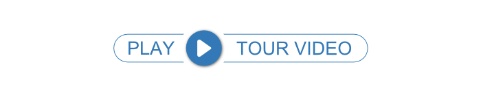 Prodiags next level concept package tour video. White oval with blue outlines containing play button icon and the text play tour video.