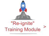Prodiags Re-ignition concept for automotive workshops and car mechanics or technicians. Re-ignite training module icon. Spaceship taking off.