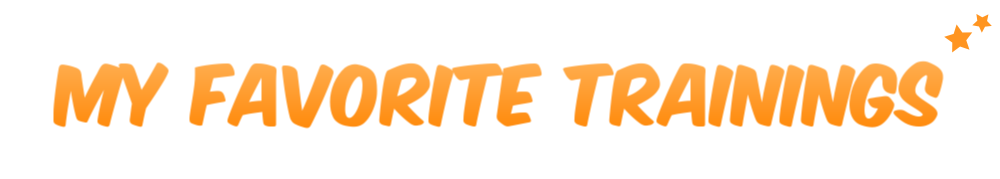 """Header image with the text """"my favorite trainings"""" in orange"""