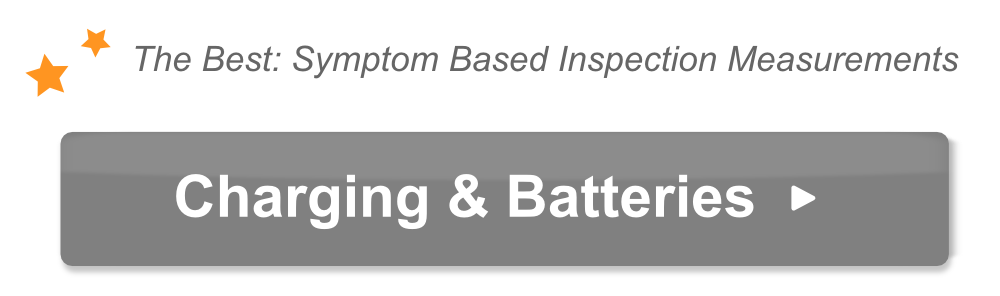 The text The best symptom based inspection measurements and charging systems and starter batteries