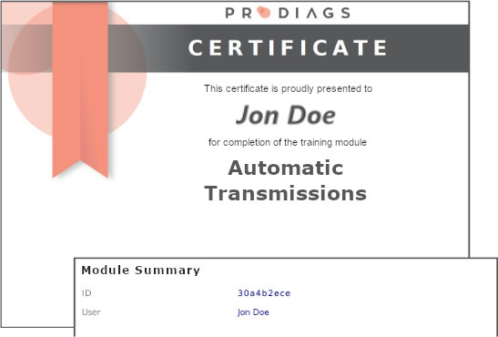 Digitally verified certificate for completion of the module